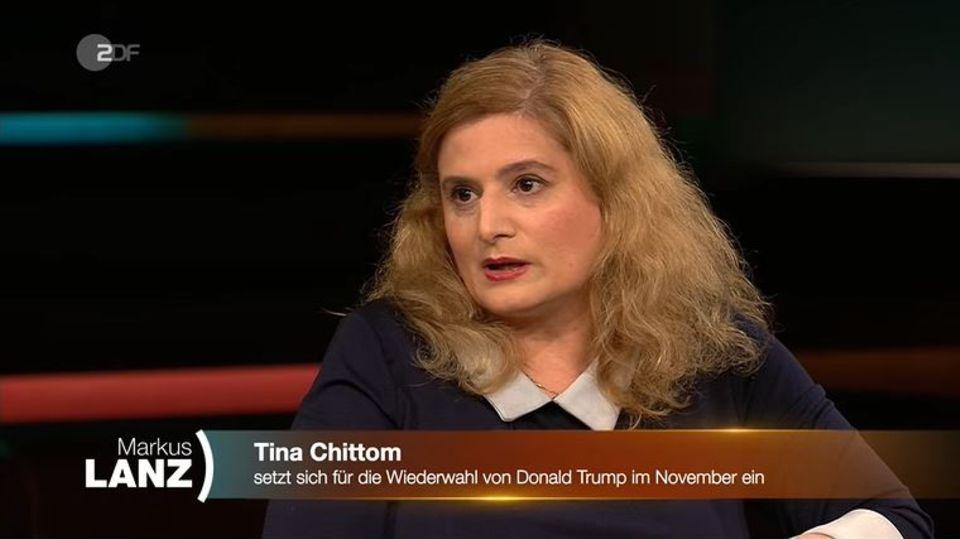 """Tina Chittom zu Gast bei """"Markus Lanz"""""""