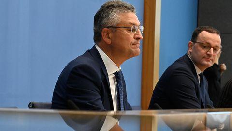RKI-Präsident Lothar Wieler (l.) und Bundesgesundheitsminister Jens Spahn (CDU)