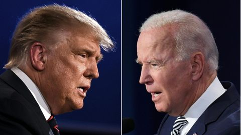 US-Präsident Donald Trump (links) und Präsidentschaftskandidat Joe Biden