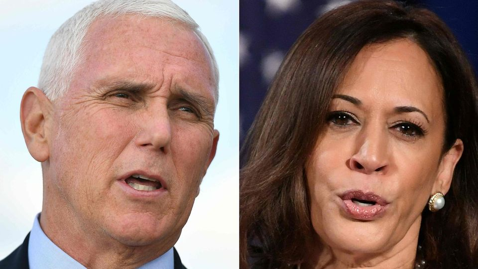 Mike Pence ist US-Vize-Präsident, Kamala Harris möchte seine Nachfolgerin werden