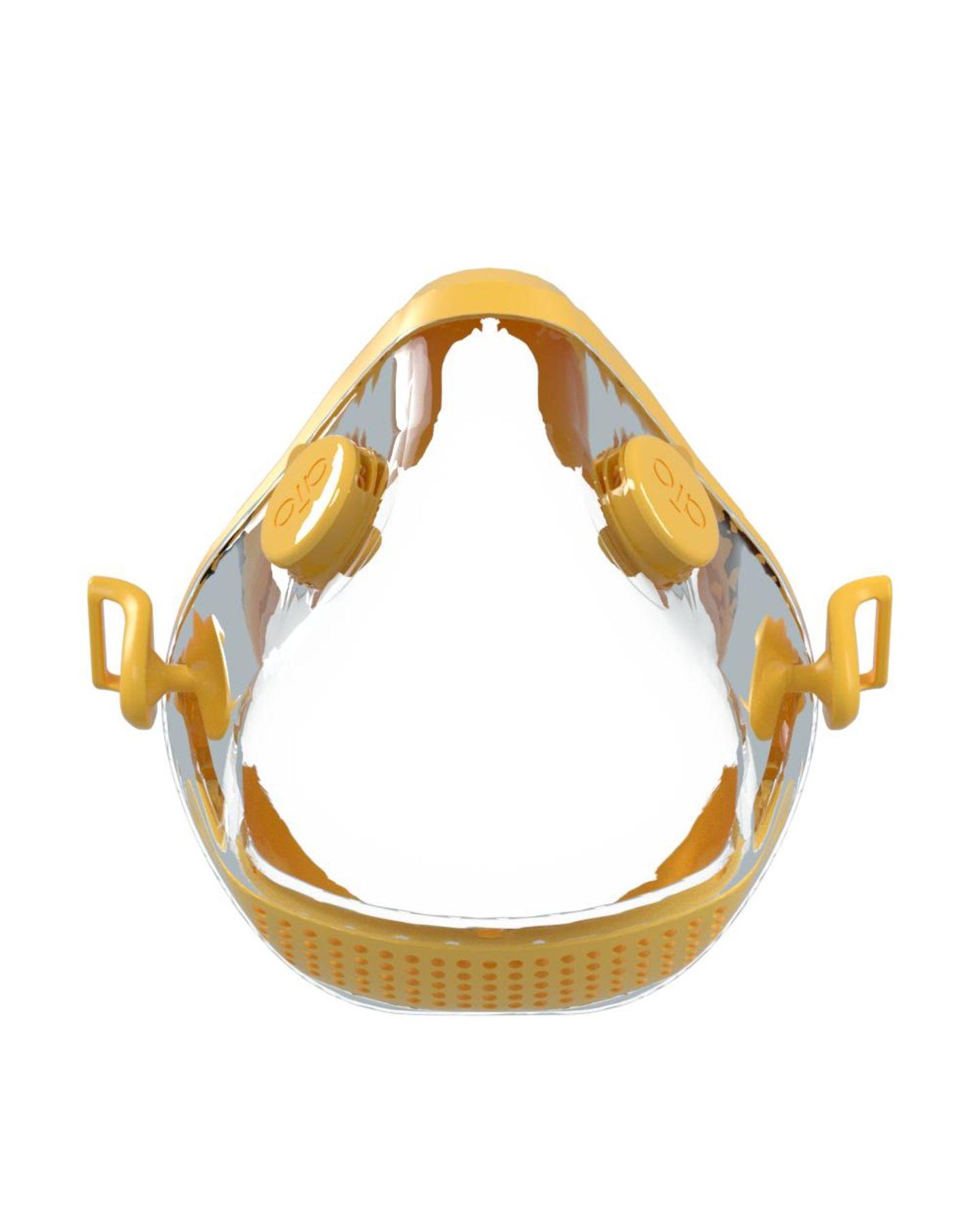AIO-Maske in gelb