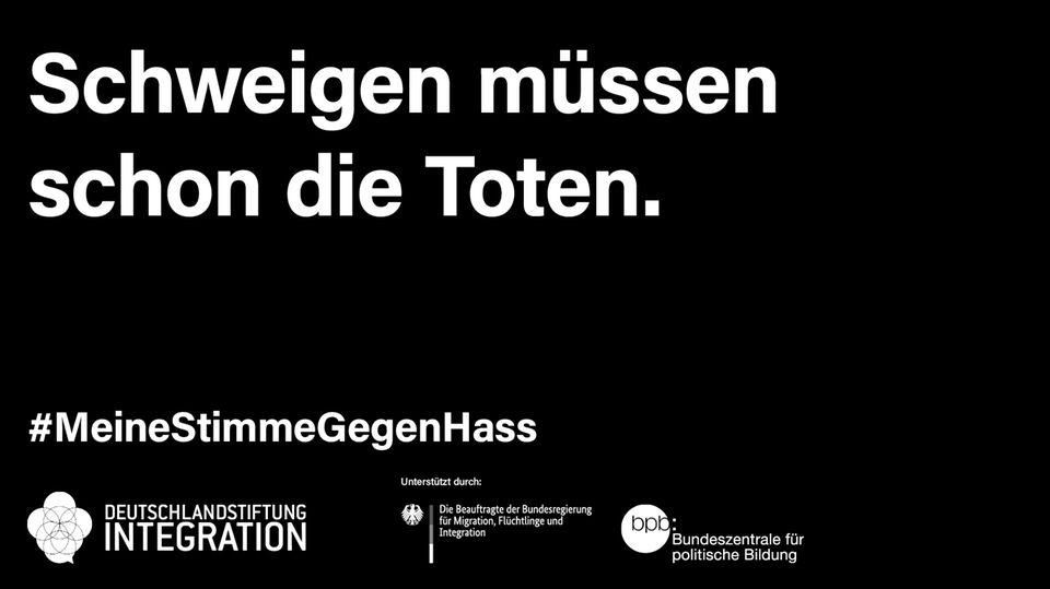 Mit Motiven wie diesen will die Initiative #MeineStimmegegenRassismus an die Opfer rechter Gewalt erinnern.