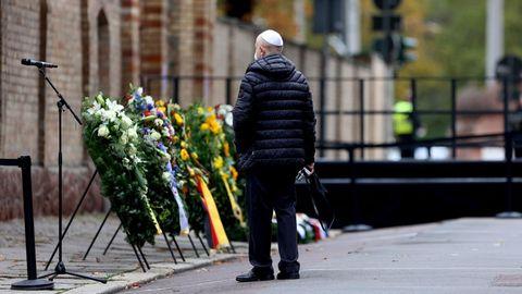 In Halle haben die Gedenkveranstaltungen zum ersten Jahrestag des Anschlags auf die jüdische Gemeinde begonnen