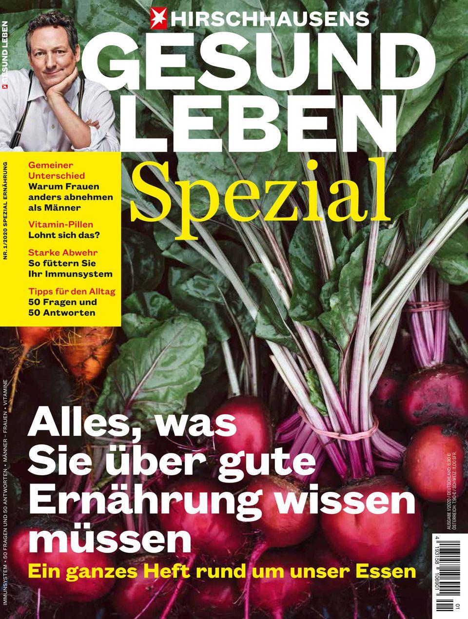 """Zum Weiterlesen: """"Hirschhausens stern Gesund Leben Spezial - Alles, was Sie über gute Ernährung wissen müssen."""" Ab sofort am Kiosk."""