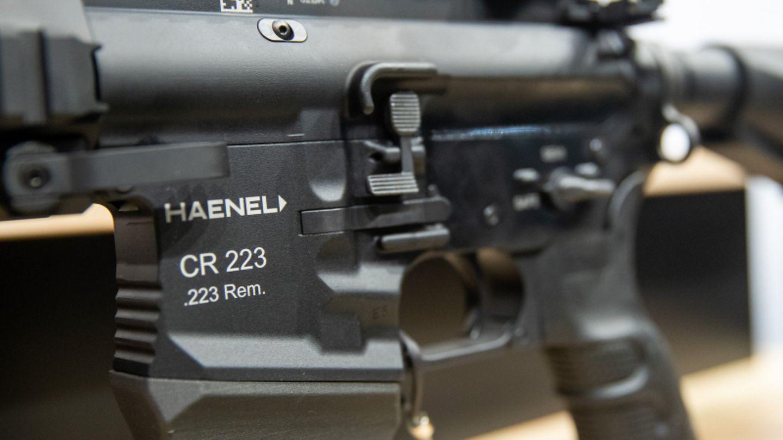 Ein Gewehr in ziviler Ausführung des deutschen Waffenherstellers Haenel.