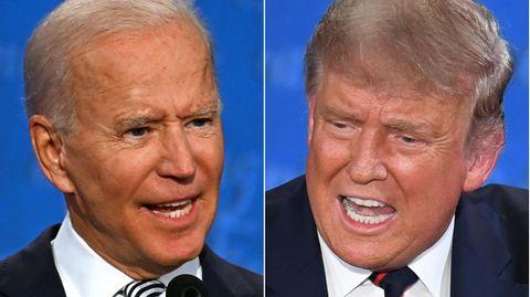 Joe Biden (l.) und Donald Trump in einer Bild-Combo