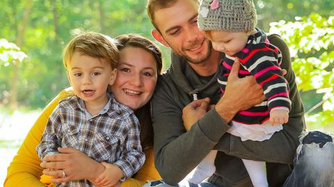 Christin Rohde mit ihrer Familie