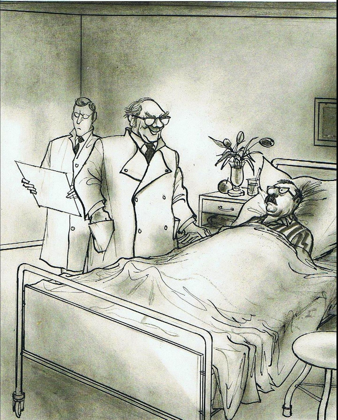 """""""Keine Angst – so eine kleine Operation mache ich mit verbundenen Augen, Fräulein Schulz."""""""