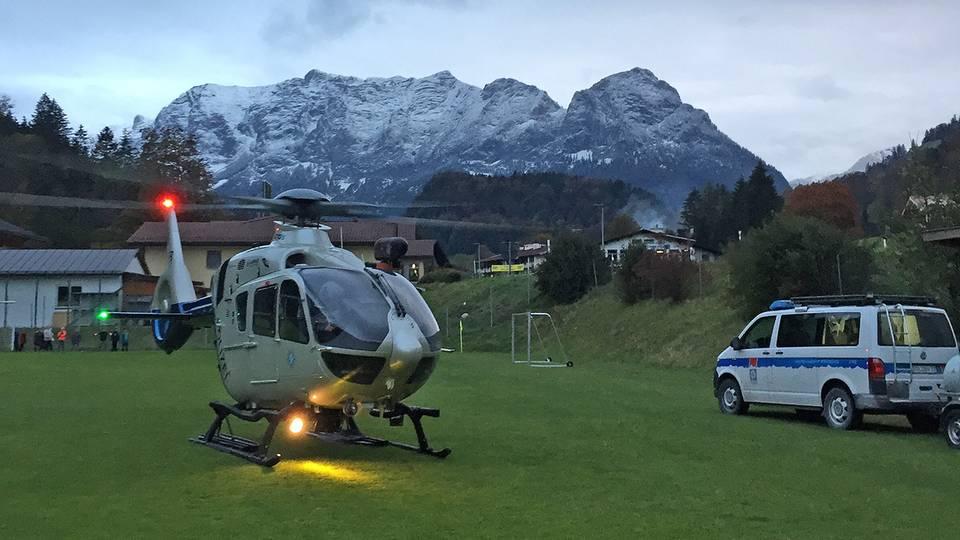 Auch mit einer Hubschrauberstaffel wurde nach dem Vermissten gesucht