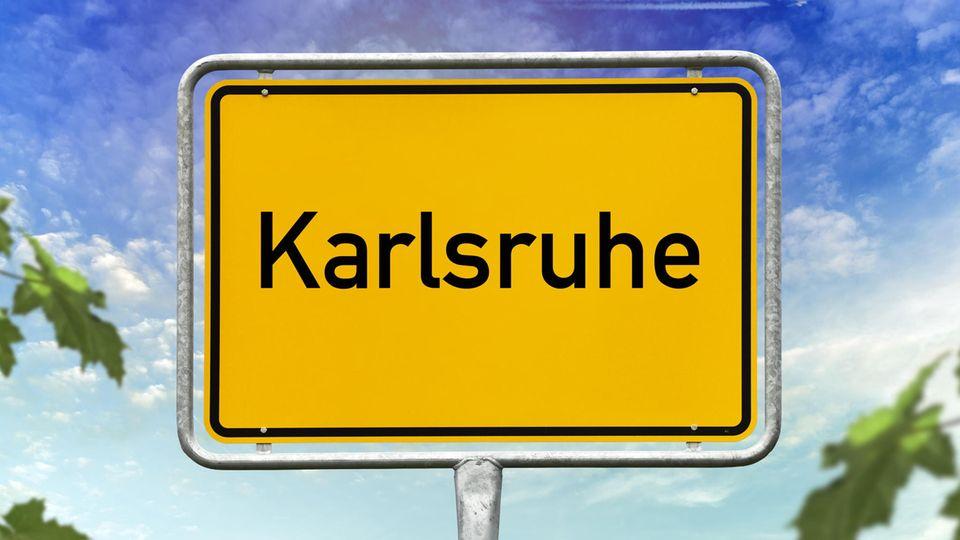 Karlsruhe Ortsschild
