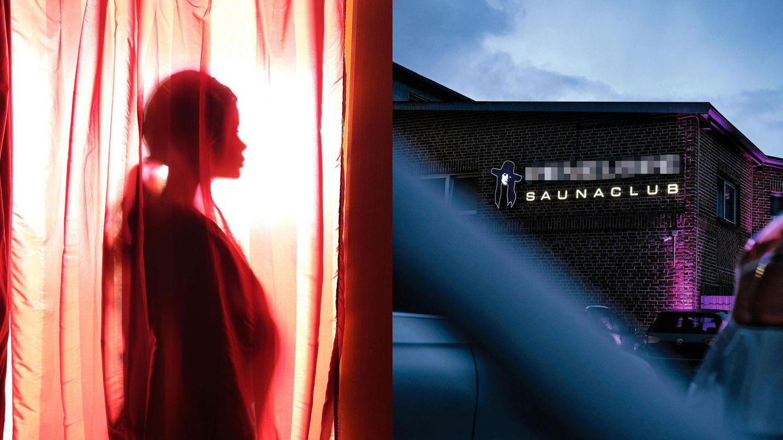 Links: Faith; Rechts: Ein Saunaclub