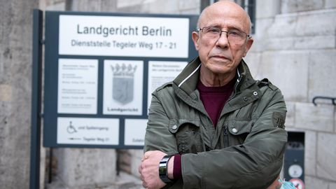 Berliner Gastwirt Norbert Finke vor dem Landgericht Berlin