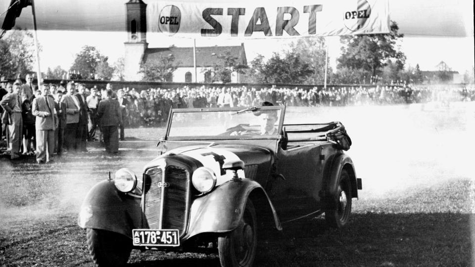 Johann Abt bei einem Rennen 1959