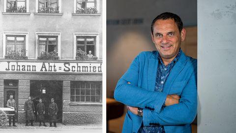 Hans-Jürgen Abt und das Unternehmen, als es noch eine Schmiede war