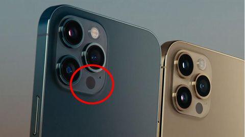 Der neue Lidar-Sensor im iPhone 12 ist unscheinbar