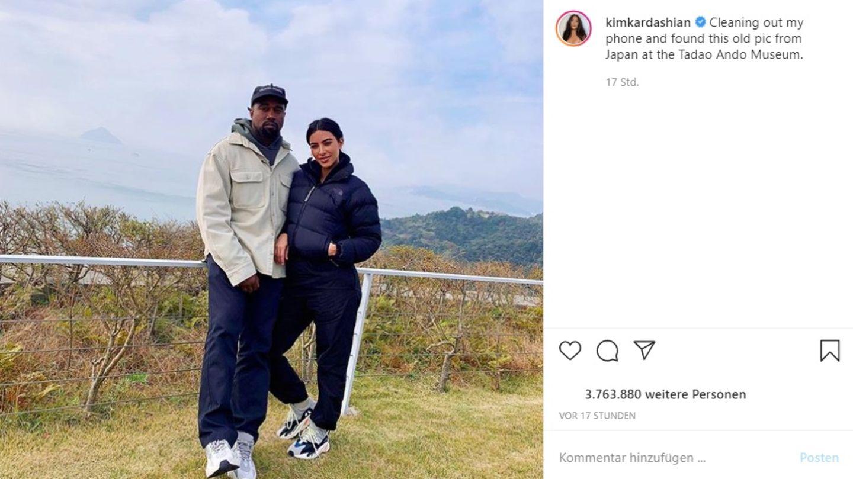 Vip News: Kim Kardashian postet gemeinsame Bilder mit Kanye West