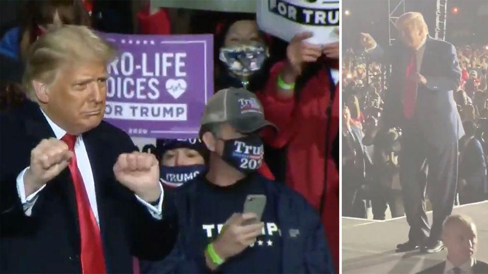 """Donald Trump """"tanzt"""" zu YMCA – und kassiert heftige Kritik"""