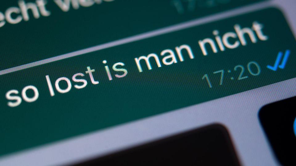 """Ein Dialog mit dem Wort """"Lost"""" auf einem Smartphone"""