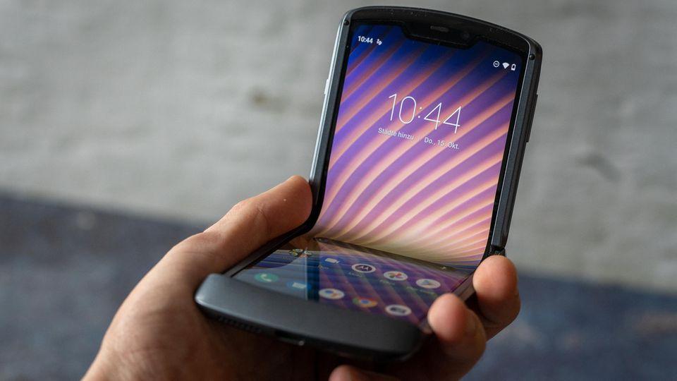 Klappt gut: das Motorola Razr 5G