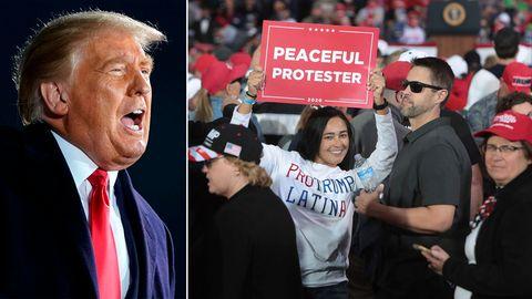 US-Wahl: Ironisches Werbeplakat weist Trump-Fans in Iowa den Weg
