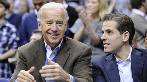 Joe Biden und Sohn Hunter im Jahr 2010