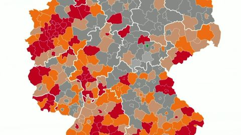 Mehr als 7300 Neuinfektionen, 71 Hotspots – Deutschlandkarte färbt sich bedrohlich rot