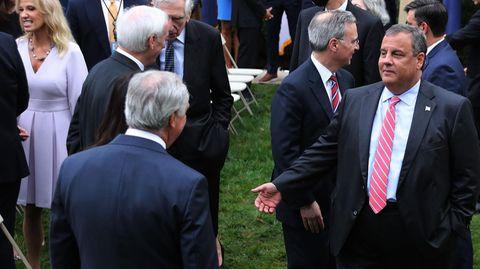 Republikaner Chris Christie während einer Veranstaltung im Rosengarten des Weißen Hauses