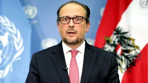 Alexander Schallenberg, Außenminister von Österreich, während der 75. Sitzung der Generalversammlung der Vereinten Nationen