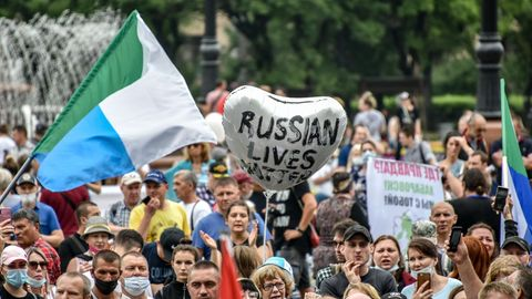 Demonstration in Chabarowsk