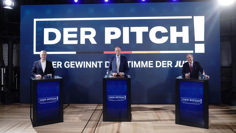 Kandidaten für den CDU-Parteivorsitz: Norbert Röttgen, Friedrich Merz und Armin Laschet