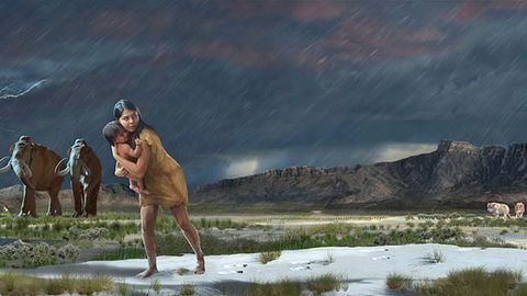 Der Schlamm hatdie Spuren 13.000 Jahre lang bewahrt.