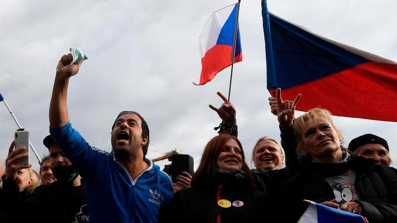 Corona-Proteste in Prag