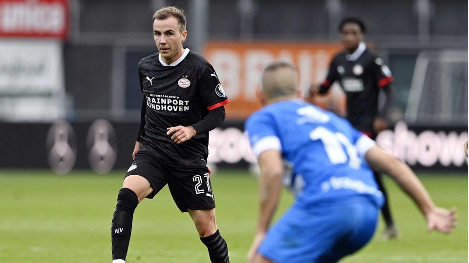 Mario Götze im Trikot des PSV Eindhoven