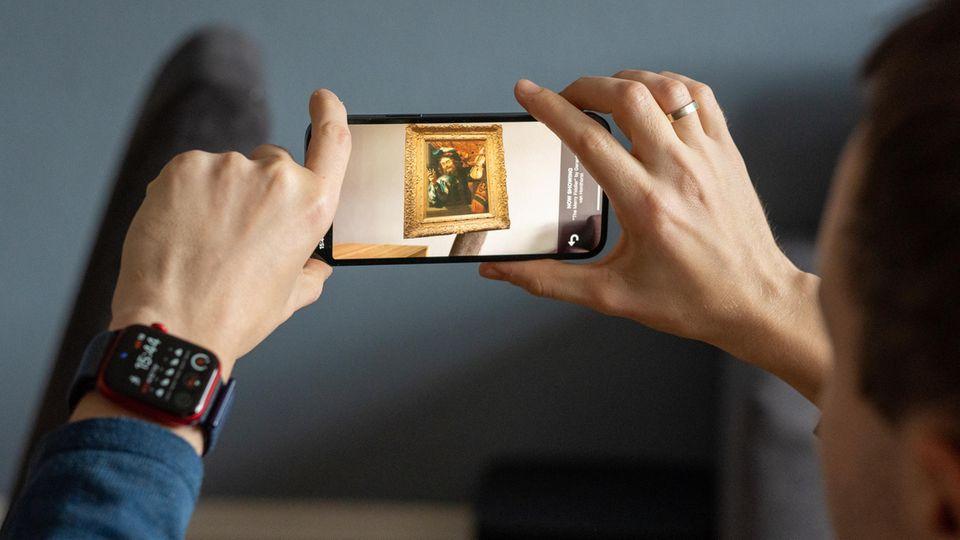 Würde das Bild an der Wand gut aussehen? Mit AR-Apps kann man virtuell den Probelauf wagen