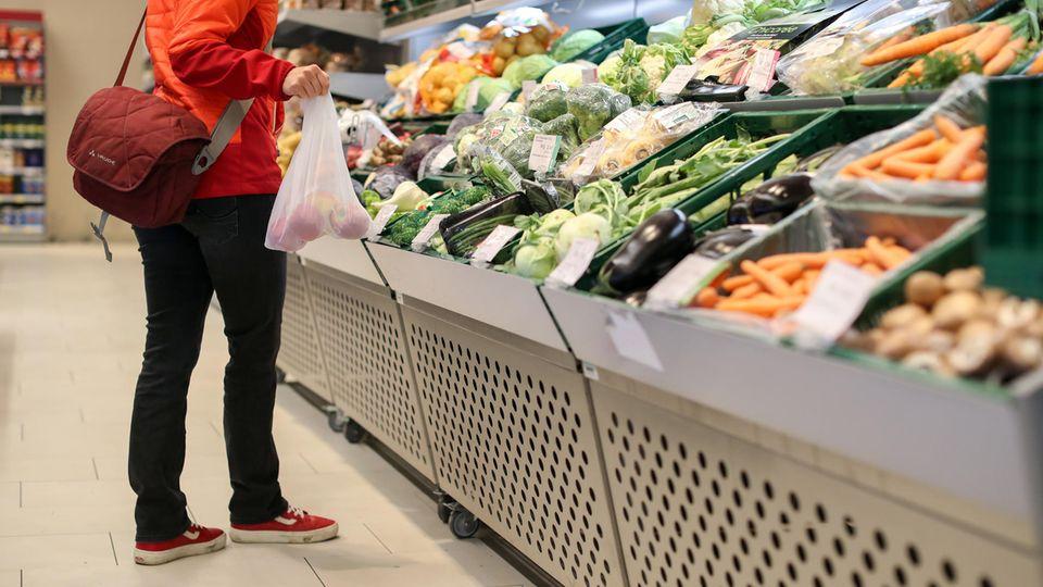 Gemüsetheke im Supermark