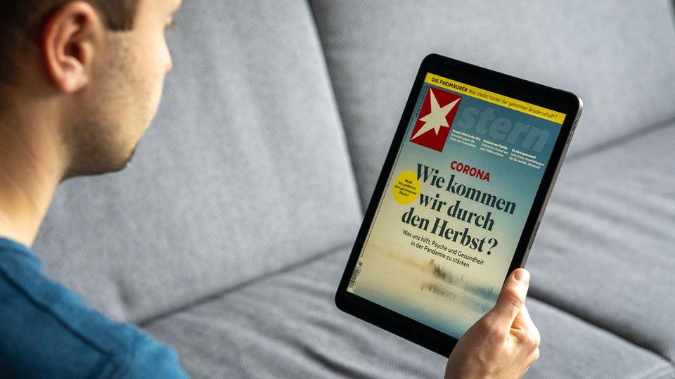 Mit 10,9 Zoll Bildschirmdiagonale eignet sich das iPad Air prima zum Lesen von digitalen Zeitschriften.