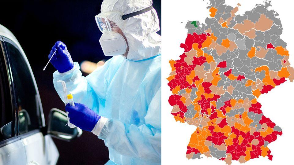 Mehr als 70.000 aktive Infektionen – fast jede dritte Region in Deutschland Corona-Brennpunkt