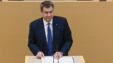 Söder im Bayrischen Landtag.