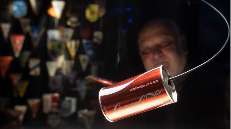 Cola-Dose im Museum Fohlenwelt von Borussia Mönchengladbach