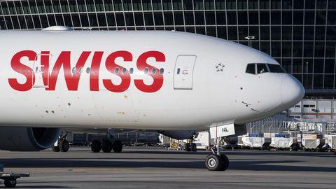 Eine Boeing 777-300 von Swiss