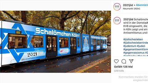 Köln setzt mit speziell gestalteten Bahn Zeichen gegen Antisemitismus
