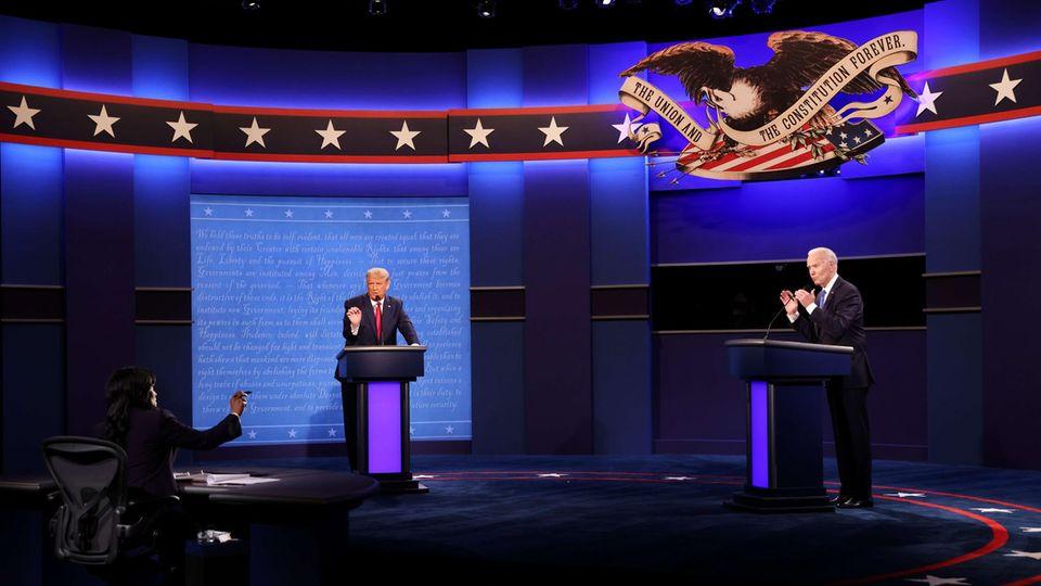 Trump vs. Biden: Moderatorin Kristen Welker sortiert die Debatte in Nashville