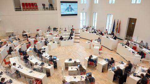 Der Landtag des Landes Brandenburg in Potsdam