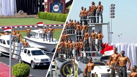 Kuriose Muskelshow: Abschlussfeier von Polizeikadetten wird zum Viral-Hit