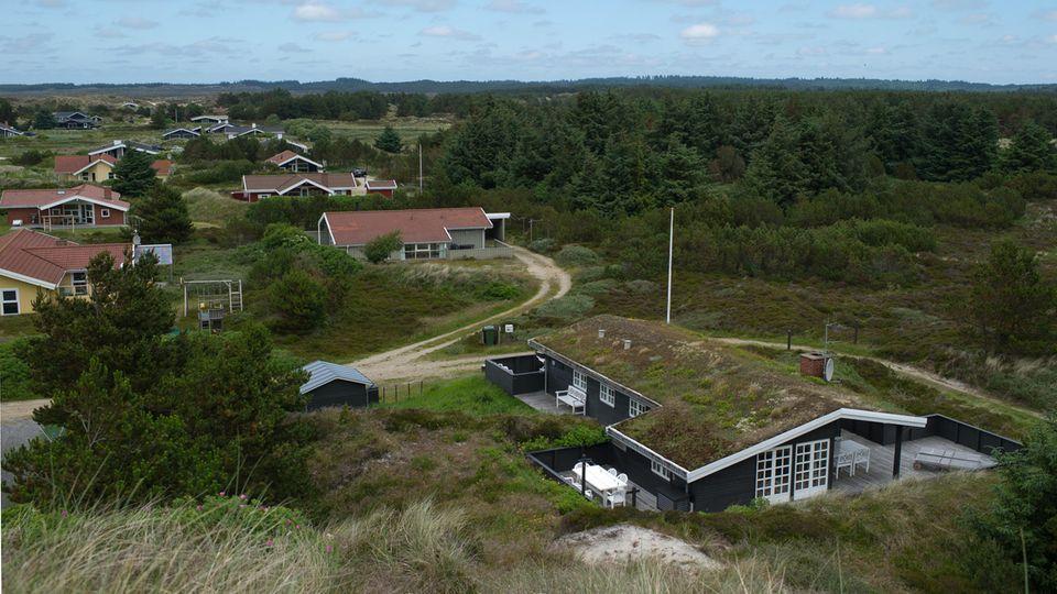 Ferienhäuser in Henne Strand, einem Ferienort an der dänischen Westküste, nördlich von Esbjerg