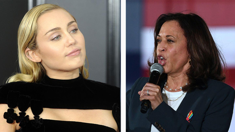 Miley Cyrus und Kamala Harris