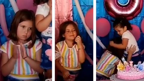 Mädchen bläst Geburtstagskerze ihrer Schwester aus – dann eskaliert die Situation