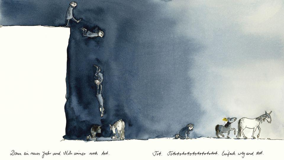 """""""Dann ein neues Jahr und Nils ist immer noch tot"""": Melanie Garanin verarbeitet in den Illustrationen von """"Nils"""" den Tod ihres Sohnes"""