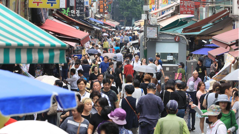 DerNamdaemun Markt in Seoul, Südkorea.