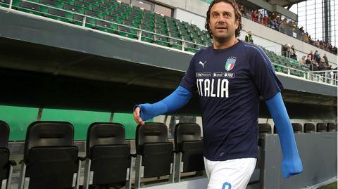 Luca Toni im Oktober 2019 vor dem Spiel in Fürth mit seinen Italienern gegen die DFB-All Stars